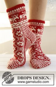 Christmas Socks with Pattern