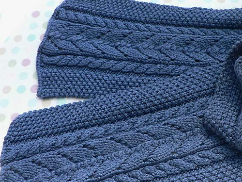Knitting Patterns Galore - Fishtail Lace and Cables Scarf