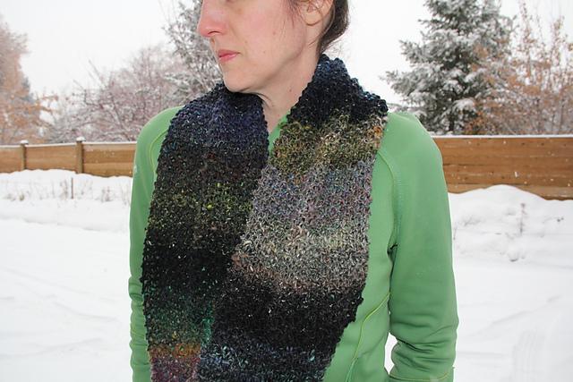 Knitting Patterns Galore Noro Cyochin Moss Stitch Infinity Scarf