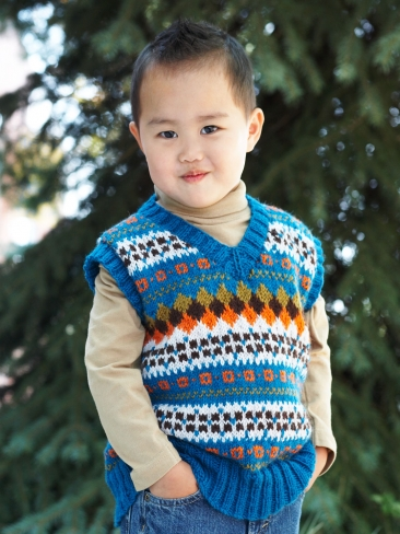 Knitting Patterns Galore - Child's V-Neck Fair Isle Vest