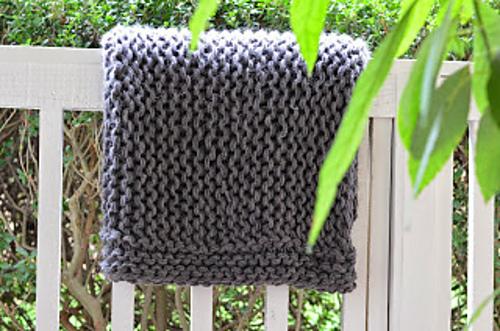 Knitting Patterns Galore Chunky Garter Blanket