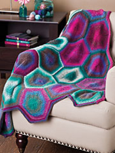 Knitting Patterns Galore Hexagon Afghan