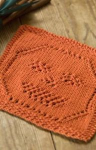 Lacy Jack-O-Lantern Dishcloth