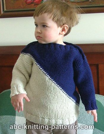 Knitting Pattern Baby Hoodie : Knitting Patterns Galore - Childs Color Block Sweater