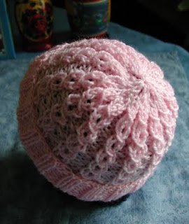 Knitting Patterns Galore Baby Hat In Eyelet Mock Cable Rib