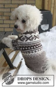 Dog's Jumper with Norwegian Pattern