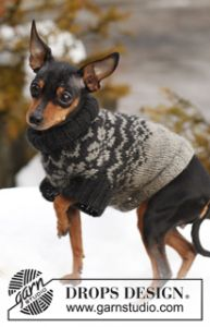 Dog's Sweater with Norwegian Pattern