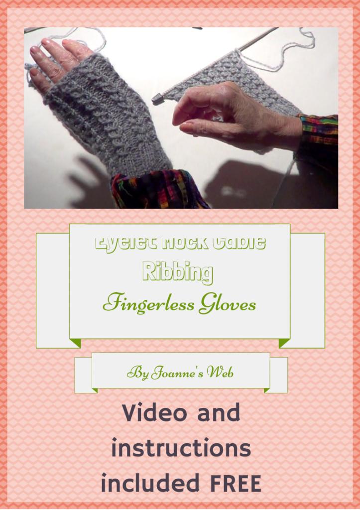 Knitting Patterns Galore Eyelet Mock Cable Ribbing