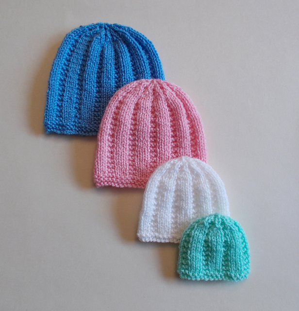 Knitting Pattern Baby Hat Premature : Knitting Patterns Galore - Perfect Premature Unisex Baby Hats