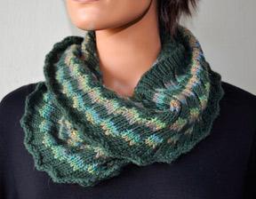 Knitting Patterns Galore Estonian Rib Infinity Scarf