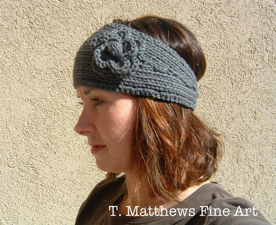 Knitting Patterns Galore - Morning Walk Headband Earwarmer