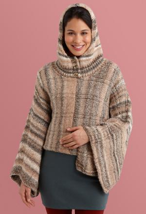 Knitting Patterns Galore - Hooded Poncho