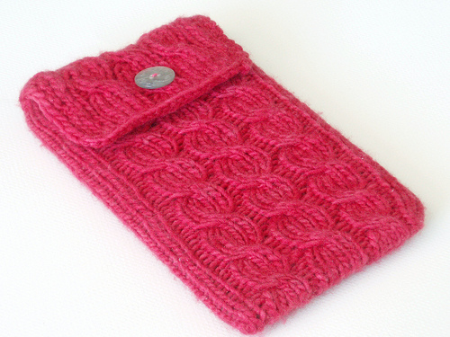 Knitting Patterns Galore Cabled Kindle Sleeve