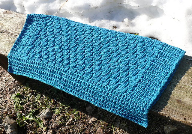 knitting patterns galore baby blanket nomad