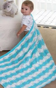 Baby Boy Chevron Blanket