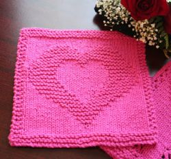 Two Hearts as One Dishcloth