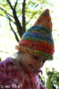 Wee Folk Art Pointed Pixie or Gnome Hat