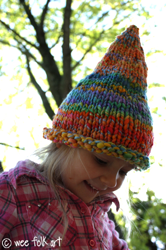 Gnome Hat Knitting Pattern Free : Knitting Patterns Galore - Wee Folk Art Pointed Pixie or ...