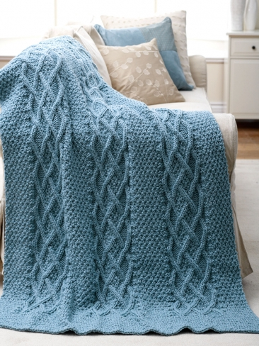 Knitting Patterns Galore - Cushy Cables Afghan