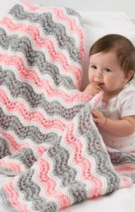 Baby Girl Chevron Blanket