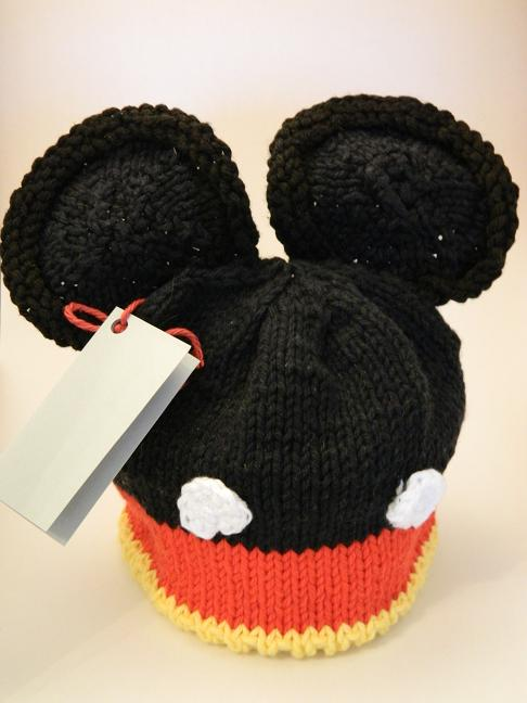 Knitting Patterns Galore - Mouse Ears Knit Baby Hat