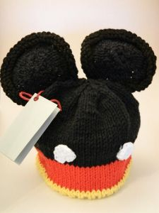 Mouse Ears Knit Baby Hat