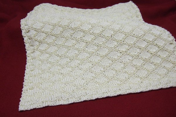 Knitting Patterns Galore - King Charles Brocade Baby Blanket