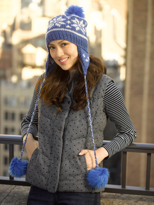 Knitting Patterns Galore - Urban Blizzard Hat