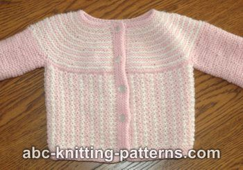 d49414f06 Knitting Patterns Galore - Round Yoke Top Down Seamless Baby Cardigan