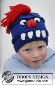 Monster Hat with Teeth, Nose, Eyes and Hair