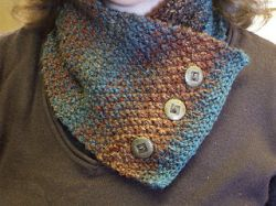 Double Moss Stitch Neck Warmer