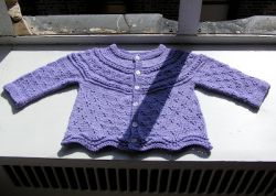 Modified Drops Eyelet Baby Cardigan