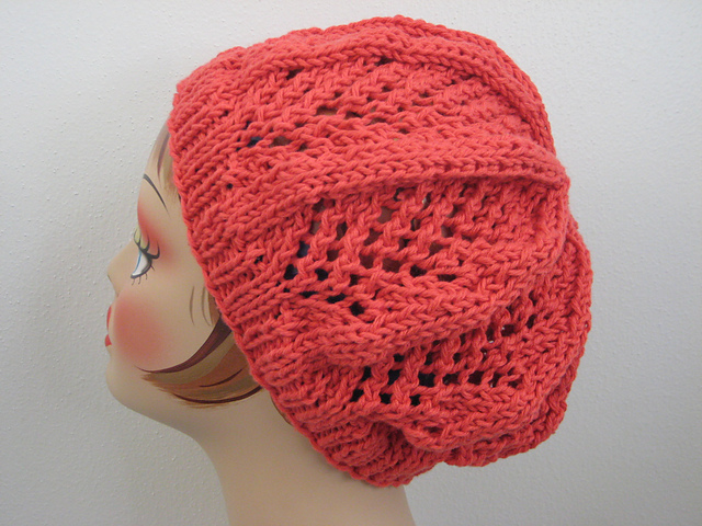 Knitting Patterns Galore Fan Lace Hat