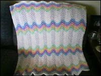 Feather and Fan Rainbow Baby Blanket