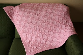 2 Free Knitting Pattern. NMCRS Basketweave Baby Blanket ver. 2. Click to Enlarge