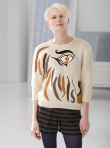 Abstracted Lion Pullover