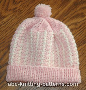 Knitting Patterns Galore Hats : Knitting Patterns Galore - Two-Color Baby Hat