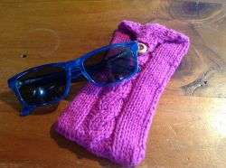 Cabled Sunglasses Case