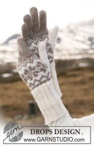 Gloves with Norwegian Pattern