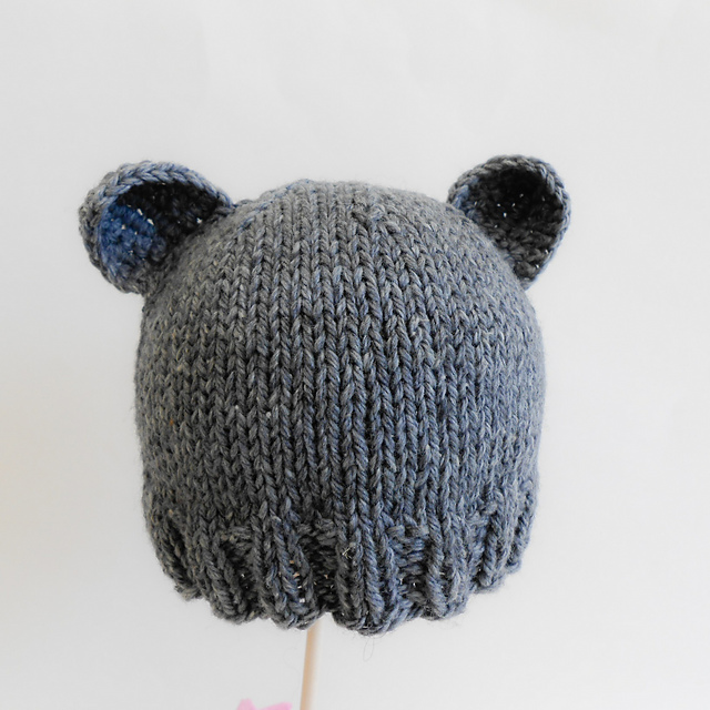 Knitting Patterns Galore Basic Newborn Bear Hat