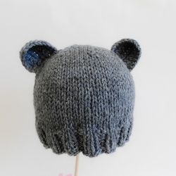 Basic Newborn Bear Hat