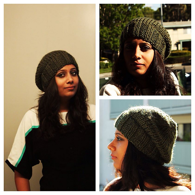 Knitting Patterns Galore Snuggly Slouchy Beret