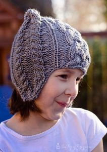 Cable Beanie with Earflaps