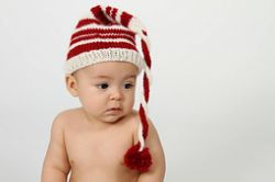 Red, White, & Ewe Santa hat