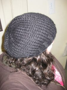 So Simple Chunky Knit Slightly Slouchy Hat