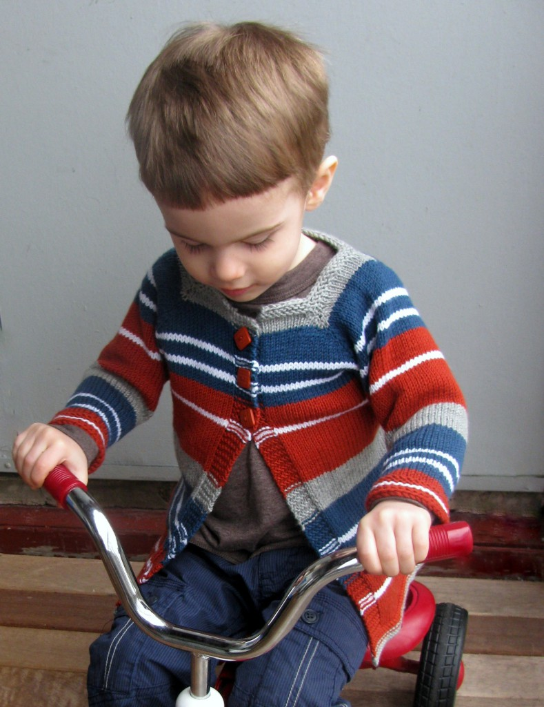 Knitting Patterns Galore - Baby and Toddler Striped Cardigan