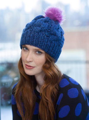 Knitting Patterns Galore Chunky Cabled Hat