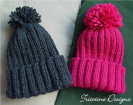 Knitting Patterns Galore Snow Hat For Kid