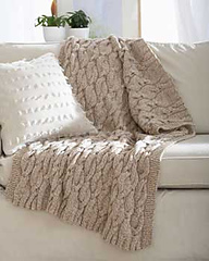Knitting Patterns Galore Chunky Aran Cable Blanket
