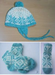 Flakey Baby Hat with Pompom
